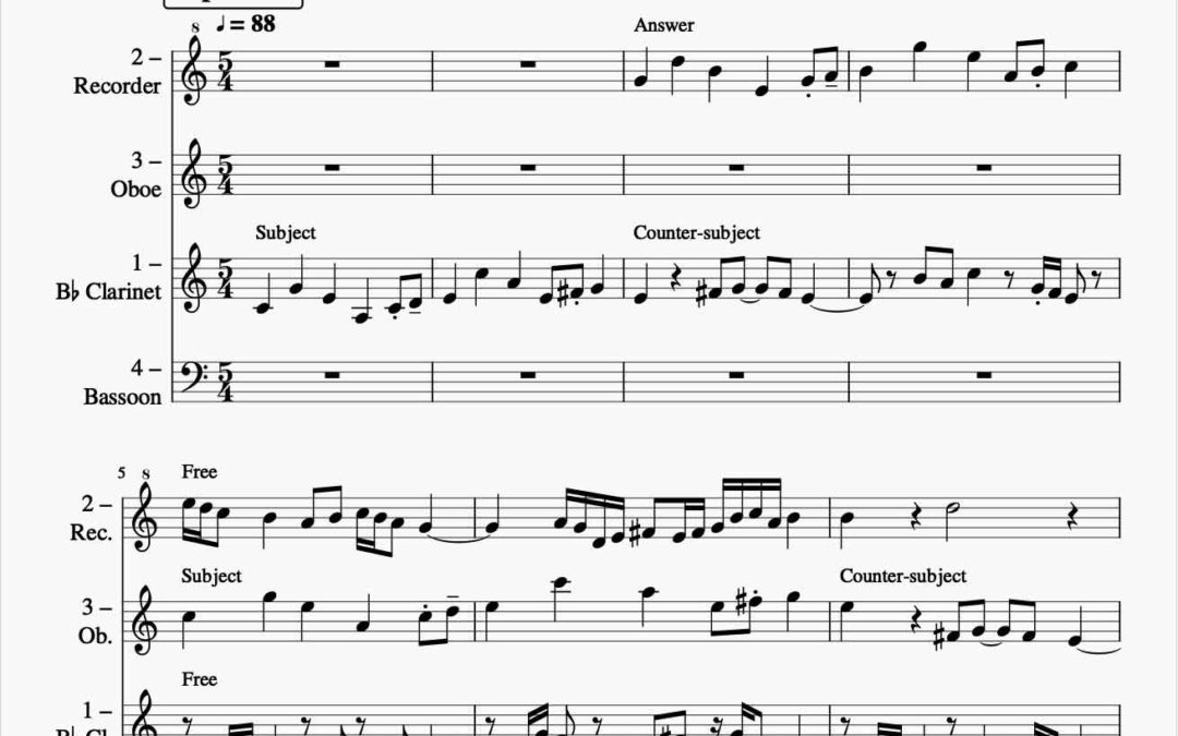 Attempting my first fugue